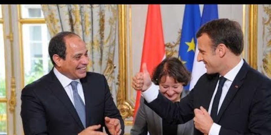 الرئيس السيسي يغادر مقر إقامته بباريس متوجها للقاء رئيس مجلس الشيوخ الفرنسى