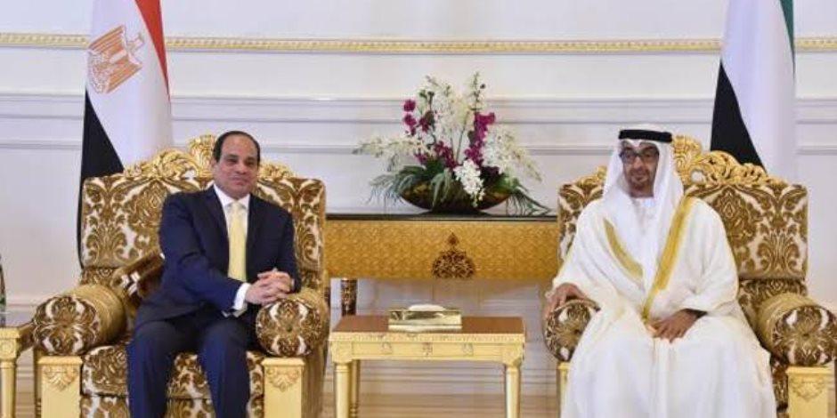 """الشيخ محمد بن زايد على """"تويتر"""": سعدت بلقاء أخى الرئيس السيسي بالقاهرة"""