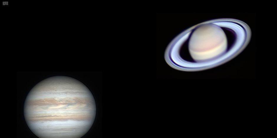 فريق علمي بمعهد الفلك يبدأ رصد الاقتران الأعظم بين المشترى وزحل بمرصد حلوان