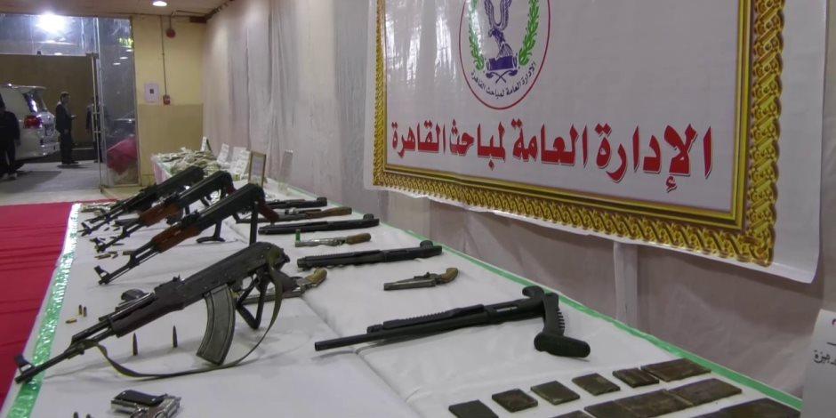 في حملة أمنية بجنوب القاهرة.. ضبط 72 قطعة سلاح و94 قضية مخدرات (صور)