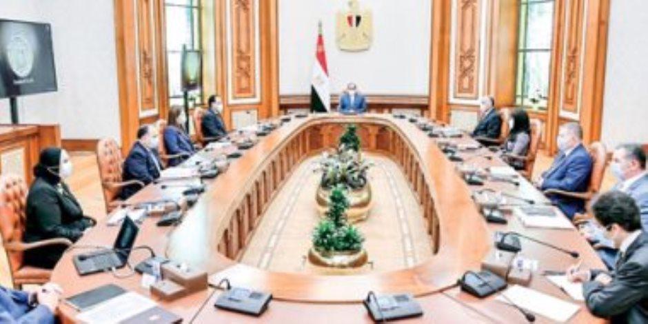 الرئيس يوجه بتكامل المشروعات فى المناطق الصناعية بالمنطقة الاقتصادية لقناة السويس