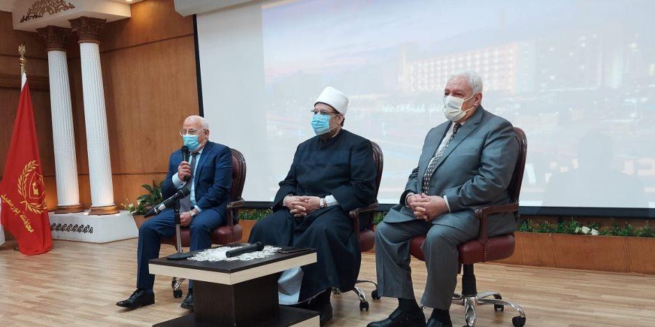 وزير الأوقاف من بورسعيد: كلفنا وكلاء الوزارة بتهنئة الأقباط بأعيادهم (صور)