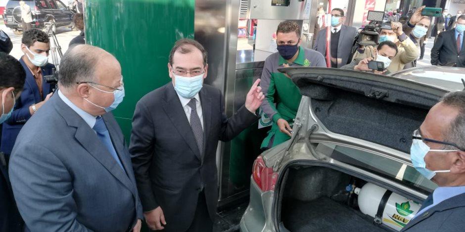وزير البترول: إقبال متزايد من المواطنين لتحويل سياراتهم للغاز