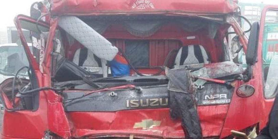 مصرع 3 أشخاص وإصابة 7 آخرين فى حادث تصادم بسبب الشبورة بالمنوفية.. صور