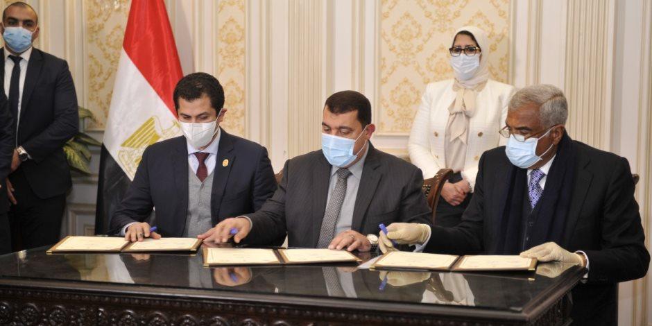 هشام طلعت مصطفي: تبرعنا بـ 2 مليون لقاح ضد فيروس كورونا واجب وطني