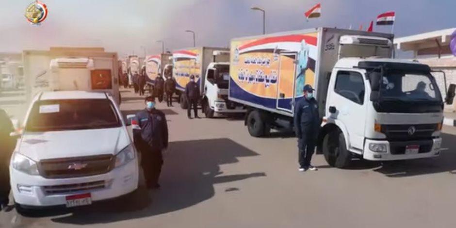 القوات المسلحة توزع موادا مطهرة وسلعا غذائية مخفضة بمختلف المحافظات