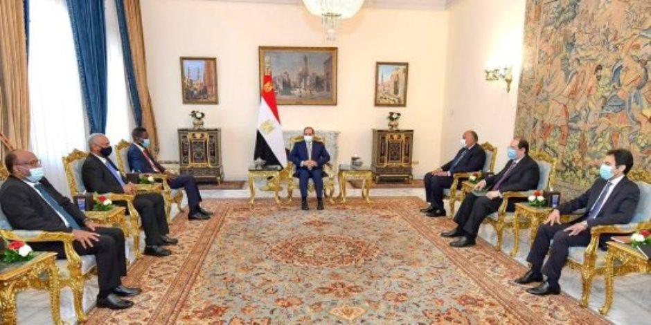 السيسي: موقف مصر تجاه السودان الشقيق ينبع من الترابط التاريخي لشعبي وادي النيل