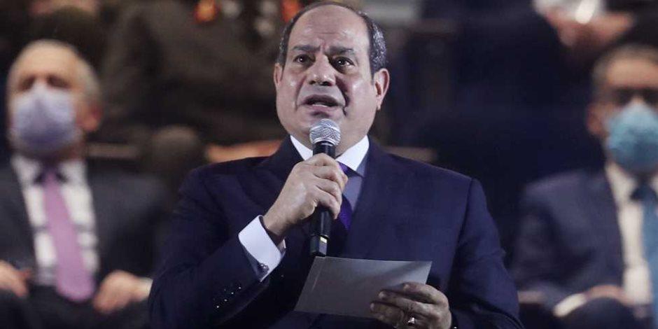 الرئيس السيسي: مصر ملتزمة بدورها فى ملف إعادة الإعمار والتنمية لدول أفريقيا