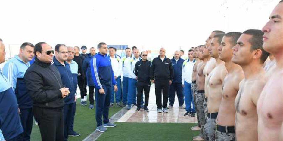 الرئيس السيسى فى زيارة تفقدية لأكاديمية الشرطة فجرًا (صور )