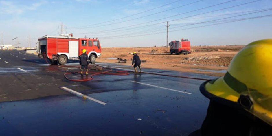 قوات الحماية المدنية بالشرقية تتمكن من السيطرة على حريق بمصنعين بالعاشر من رمضان