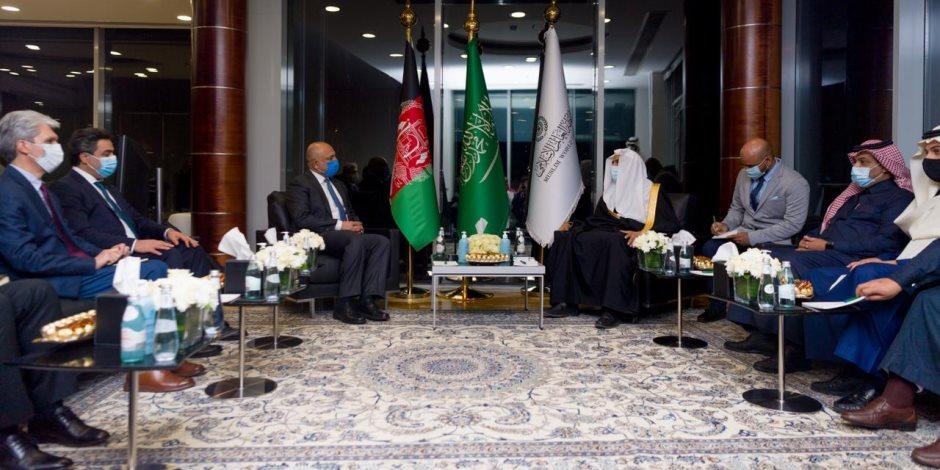 """""""العيسى"""" الأمين العام لرابطة العالم الإسلامي يستقبل وزير خارجية أفغانستان"""
