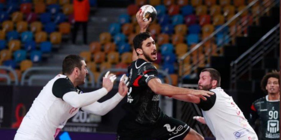 منتخب مصر تكتسح بيلاروسيا (35 - 26) ويقترب من ربع نهائي مونديال اليد