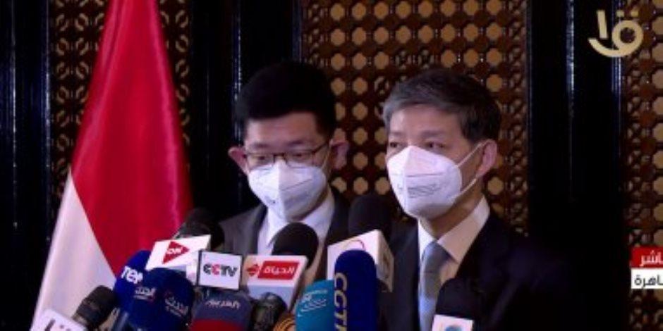 """سفير الصين بالقاهرة: """"نحرص على تقديم دعمنا ومساعدتنا لمصر ردا للجميل"""""""