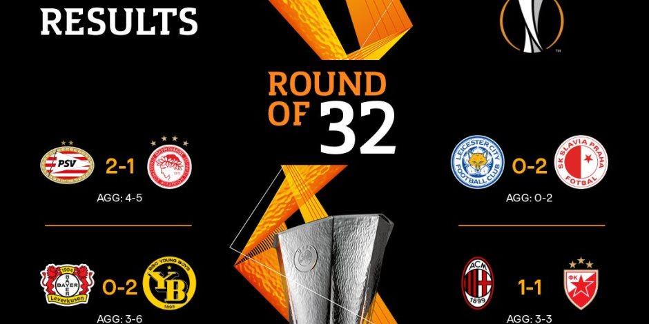 معركة دور الـ 32 من الدوري الأوروبي: نتائج مثيرة وأرقام قياسية (صور)