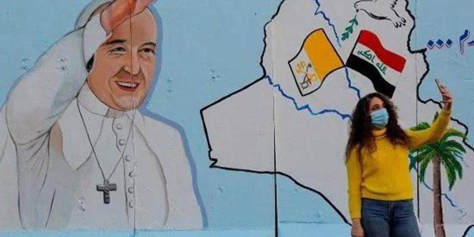 سر انتشار صور سلفي مع البابا فرنسيس في العراق