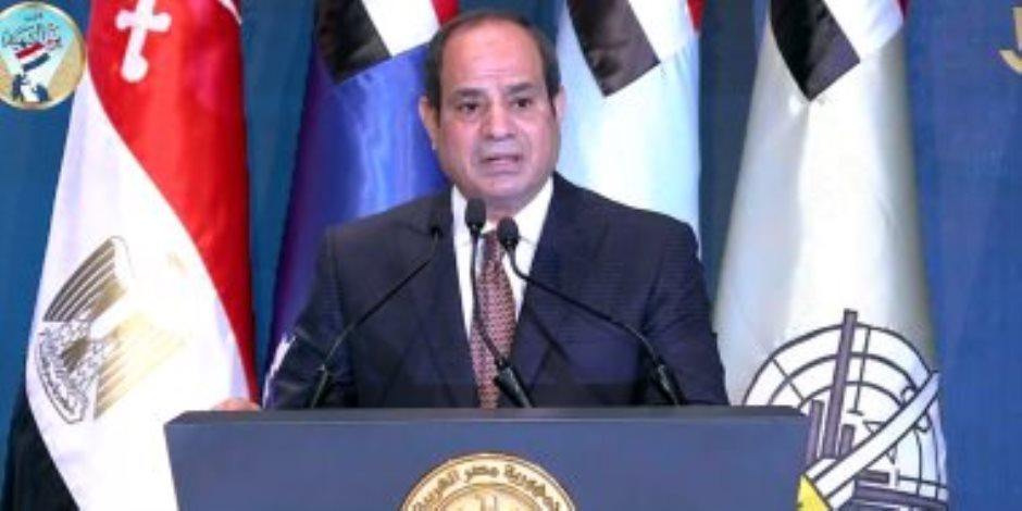 الرئيس السيسى: افتتاح العاصمة الإدارية الجديدة بمثابة إعلان جمهورية جديدة