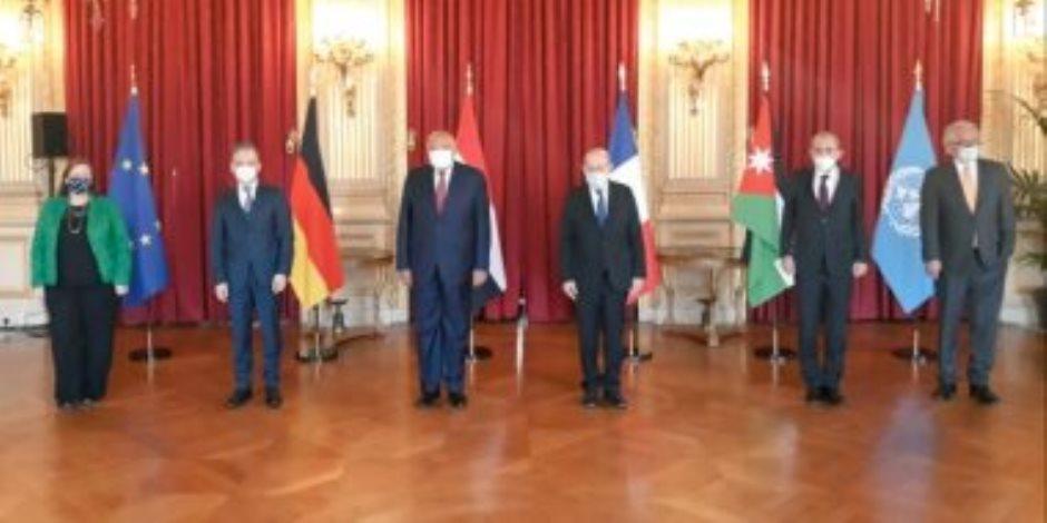 بيان رباعى بمشاركة مصرية يؤكد أهمية الحفاظ على حل الدولتين لتحقيق السلام