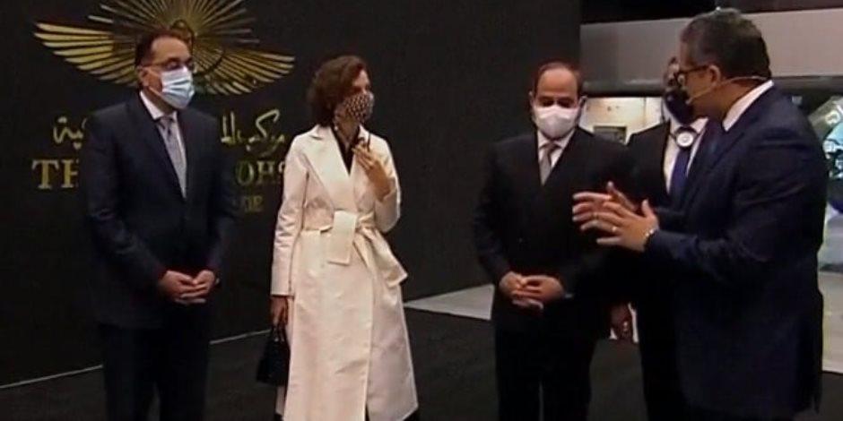 """""""الآثار"""" تهدى الرئيس السيسى التذكرة رقم 1 للمتحف القومى للحضارة المصرية"""