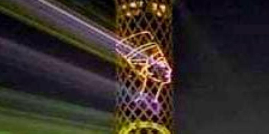 برج القاهرة يتزين بصور ملوك مصر القدماء بالتزامن مع الموكب الذهبى للمومياوات