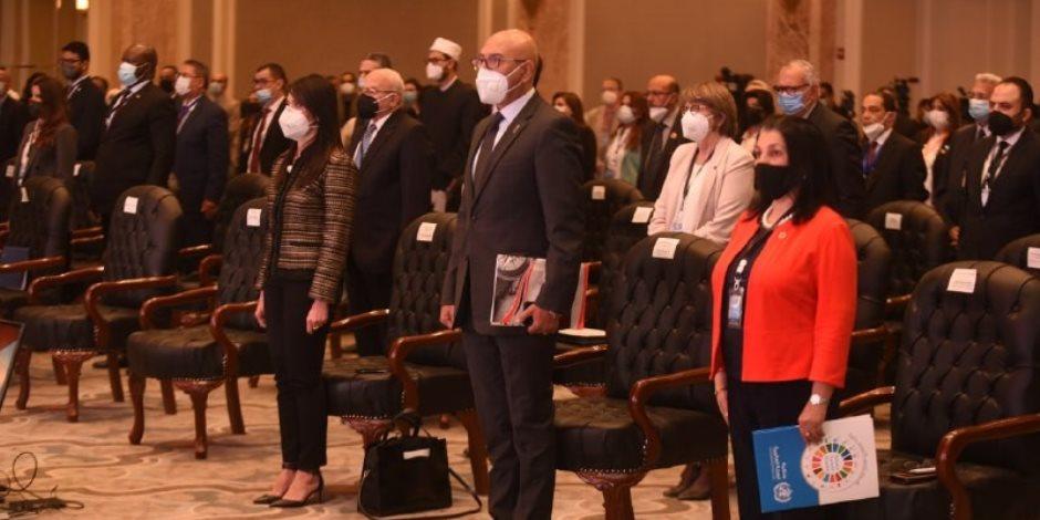 """تفاصيل الجلسة الافتتاحية لمؤتمر """"حقوق الإنسان ..عالم ما بعد الجائحة"""": الحفاظ على صحة المواطن أولوية لدى الدولة"""