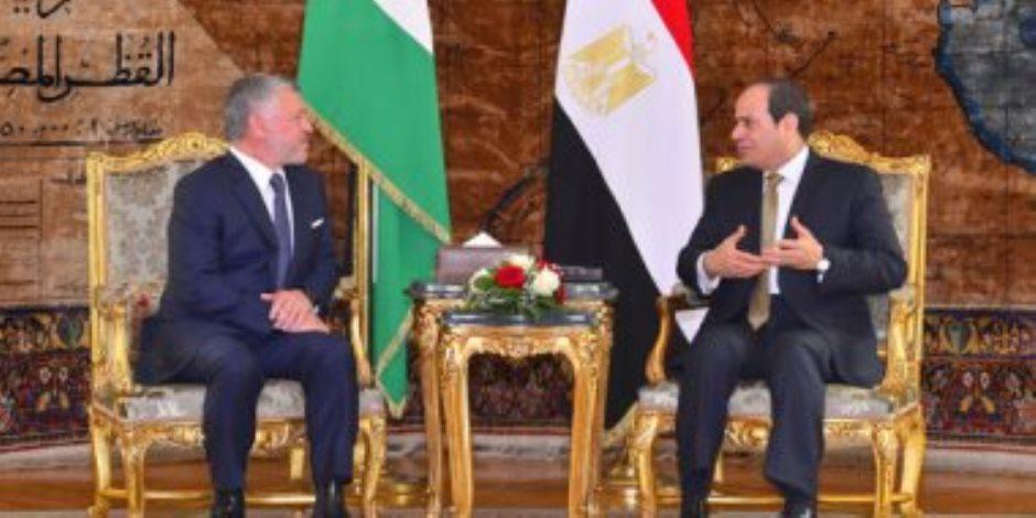 الرئيس السيسي فى مئوية المملكة: نسجل للأردن الشقيق وقوفه الدائم بجانب مصر