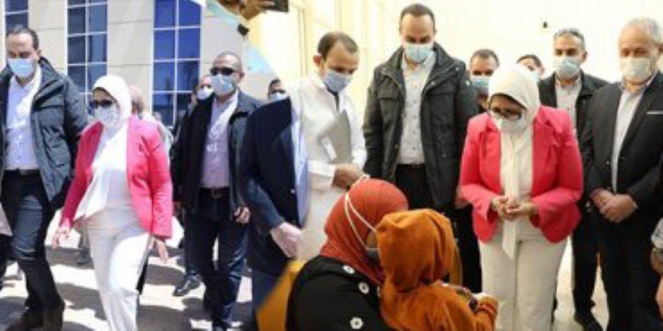 آخرهم مستشفي الكرنك الدولي.. وزيرة الصحة تختتم جولاتها على المستشفيات والوحدات الصحية بالأقصر