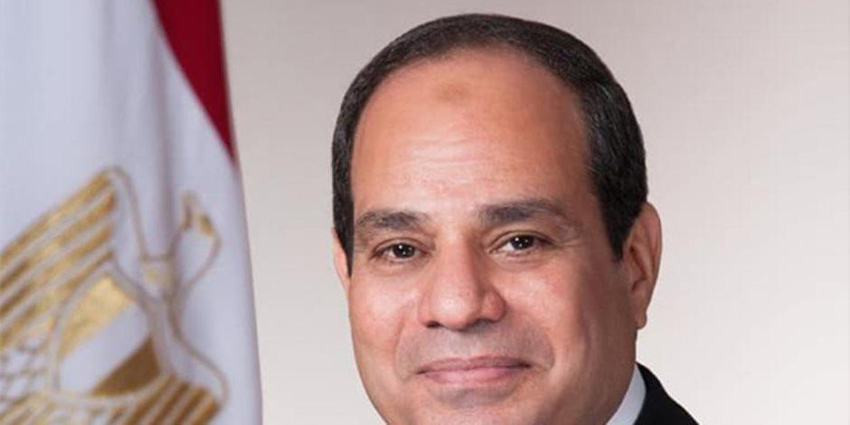 """الرئيس السيسى: """"الدراما اللى اتقدمت واللى لازم تقدم أكثر من كدة.. فكرتنا بأيام صعبة.. ومرت بفضل الله ثم بتضحيات شعب مصر"""