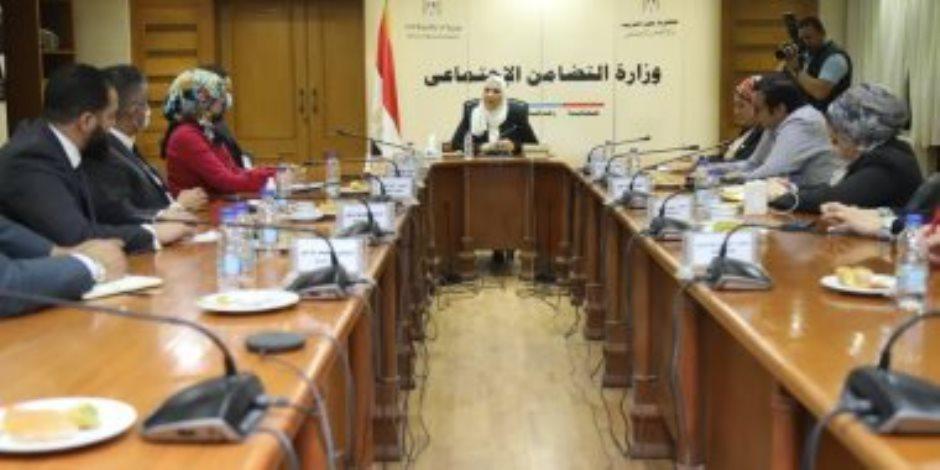 خلال لقاء وفد تنسيقية شباب الأحزاب.. وزيرة التضامن تعلن افتتاح وحدات تضامن بـ25 جامعة حكومية