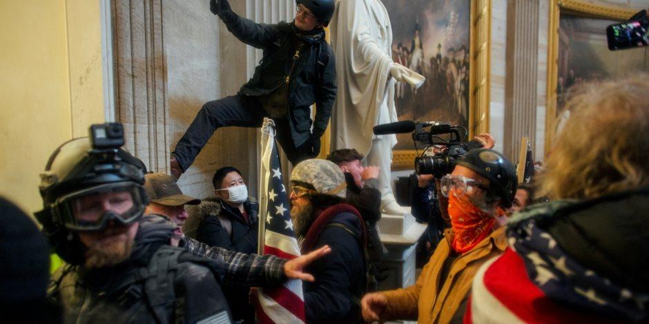 """مسيرة """"العدالة من أجل 6 يناير"""".. تعزيزات أمنية أمام الكونغرس خوفا من اقتحامه مجدداً"""