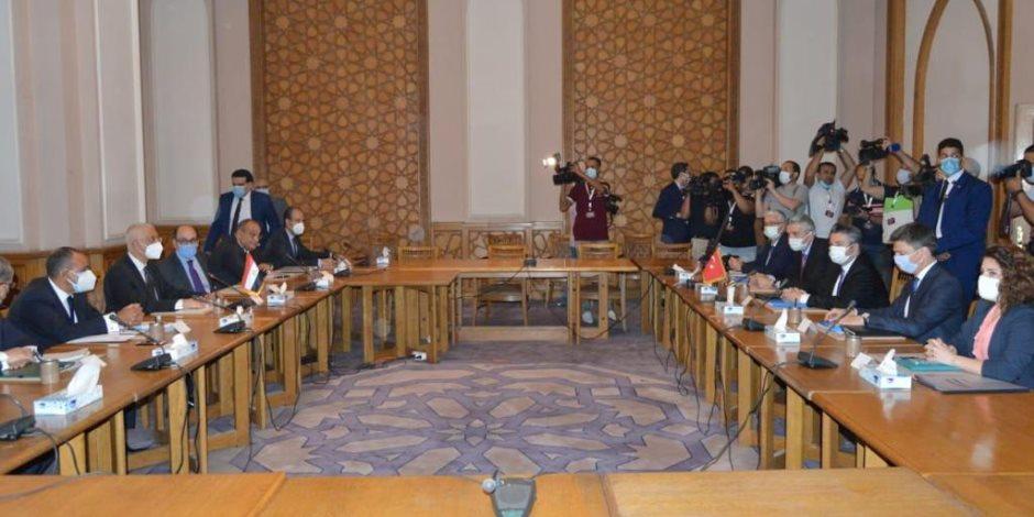 اختتام المباحثات الاستكشافية بين وفدي مصر وتركيا (صورة)