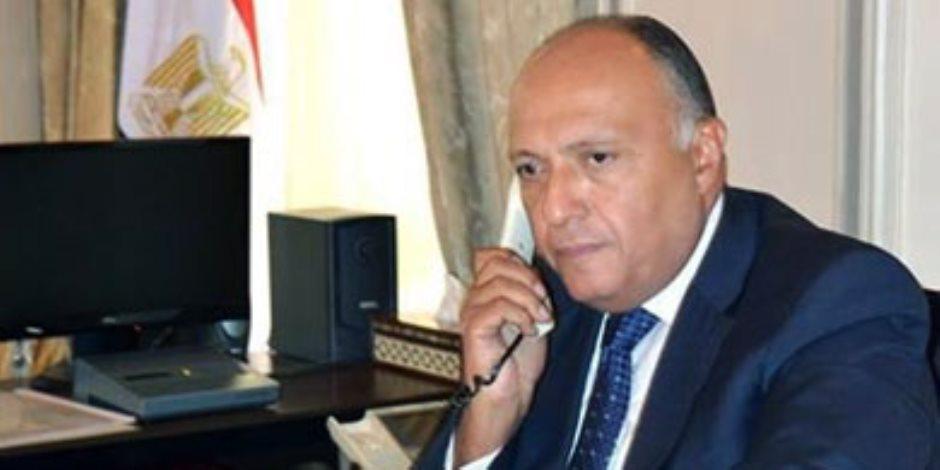 وزير الخارجية يبحث هاتفيا مع نظيره السعودي التطورات على الساحة الفلسطينية