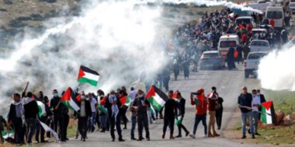 2000 متظاهر يحتشدون فى هولندا للتضامن مع الشعب الفلسطينى