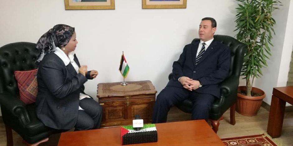 سفير فلسطين في القاهرة لـ «صوت الأمة»: تأثير مصر الدولي سيرغم إسرائيل على وقف العدوان