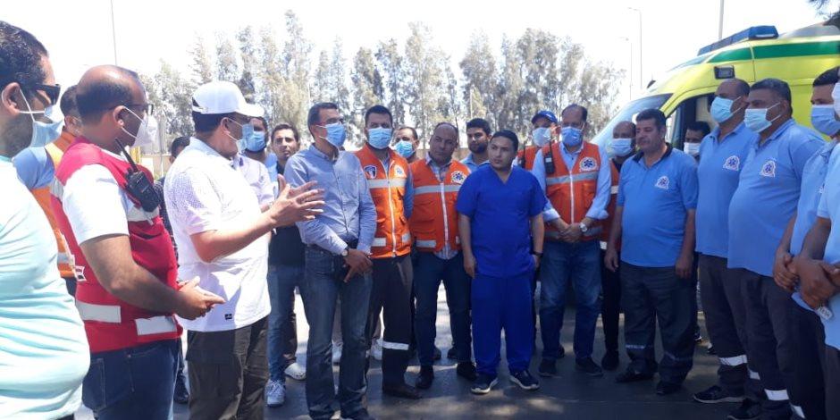 محافظ شمال سيناء من معبر رفح:  مصر حريصة على الشعب الفلسطينى وتم توفير كافة الخدمات للمصابين (صور)