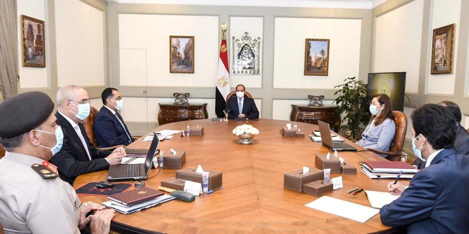 الرئيس السيسى يوجه بتكامل استراتيجية تحلية المياه مع السياسة العامة للدولة للإدارة الرشيدة