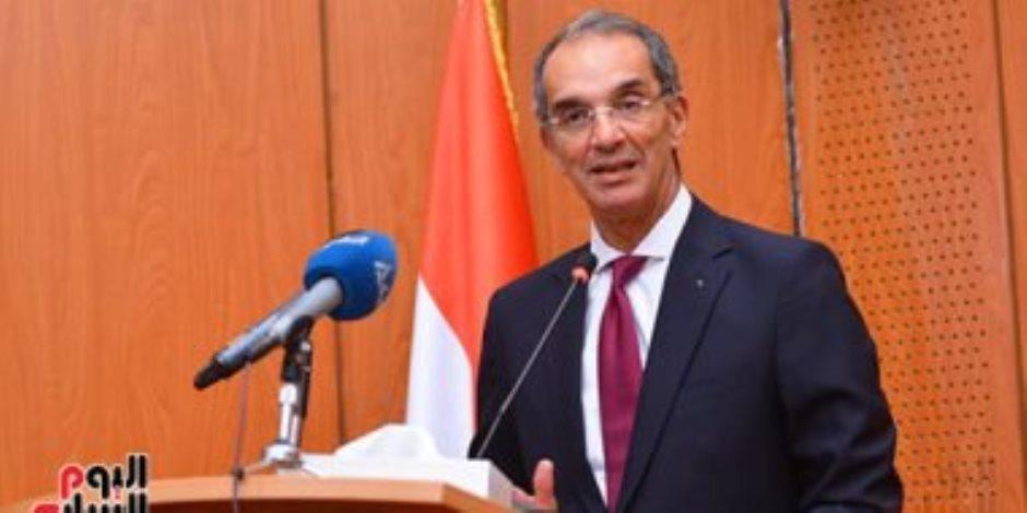 من المركز 40 لـ الرابع إفريقياً.. وزير الاتصالات يرصد إنجازات القطاع فى 7 سنوات