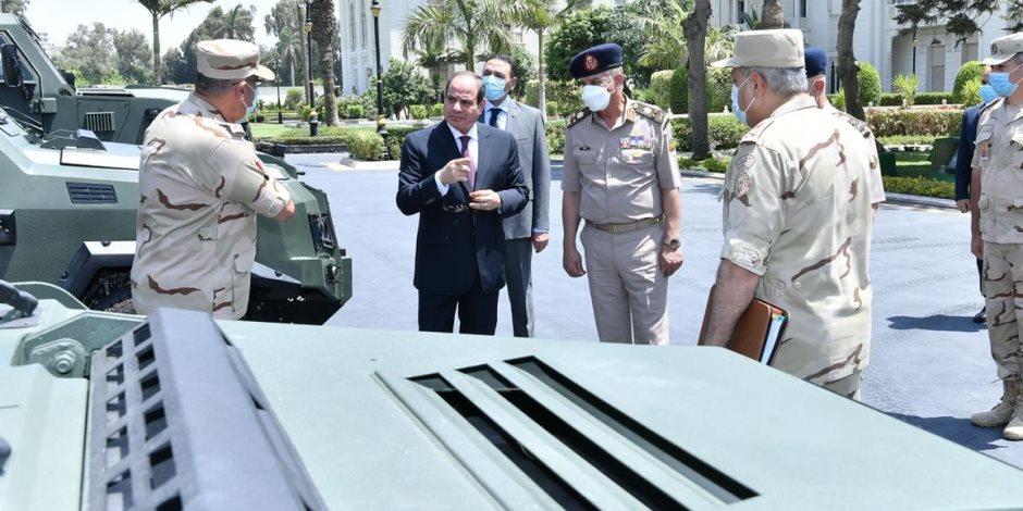 """الرئيس السيسي يناقش خطة رفع كفاءة القوات المسلحة.. وتطورات """"حياة كريمة"""""""
