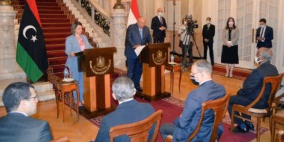 وزير الخارجية يجدد دعم مصر للسلطة التنفيذية بليبيا.. ويشدد على ضرورة خروج القوات الأجنبية والمرتزقة دون مماطلة