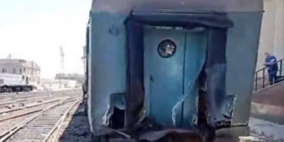 مصابون في حادث قطار جديد بمحطة مصر بالإسكندرية (صور)
