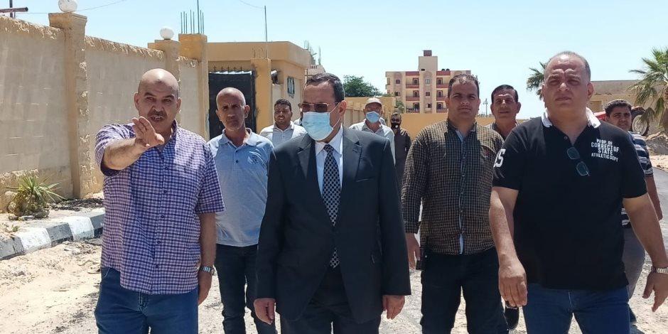"""التنمية تصل حدود سيناء الشرقية.. """"شوشة""""  يتابع تنفيذ مشروعات بمجالات الكهرباء والمياه والزراعة بمدينة الشيخ زويد (صور)"""