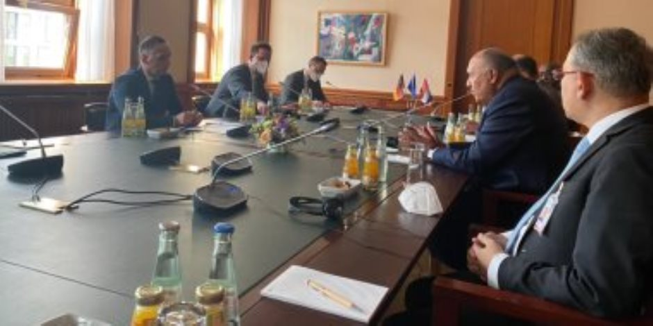 وزير الخارجية يبحث مع نظيره الألمانى تطورات الأوضاع فى ليبيا وملف سد النهضة