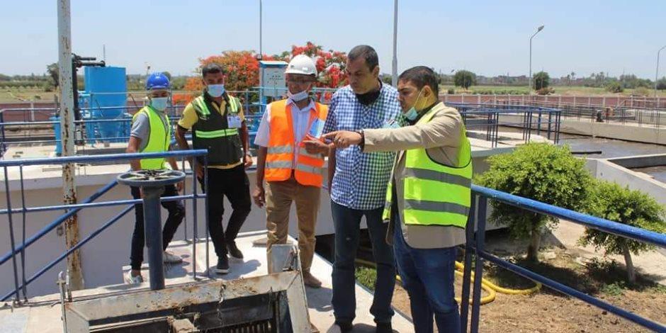 رئيس شركة مياه الغربية يتفقد محطات مدينة طنطا