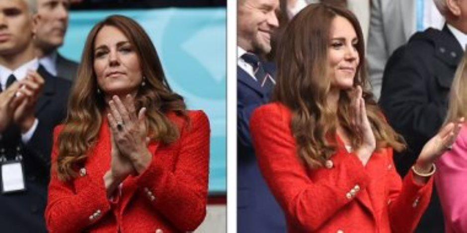 """كيت ميدلتون بأطلاله تخطف الانظار في مباراة إنجلترا وألمانيا فكم تكلفتها """"صور"""""""