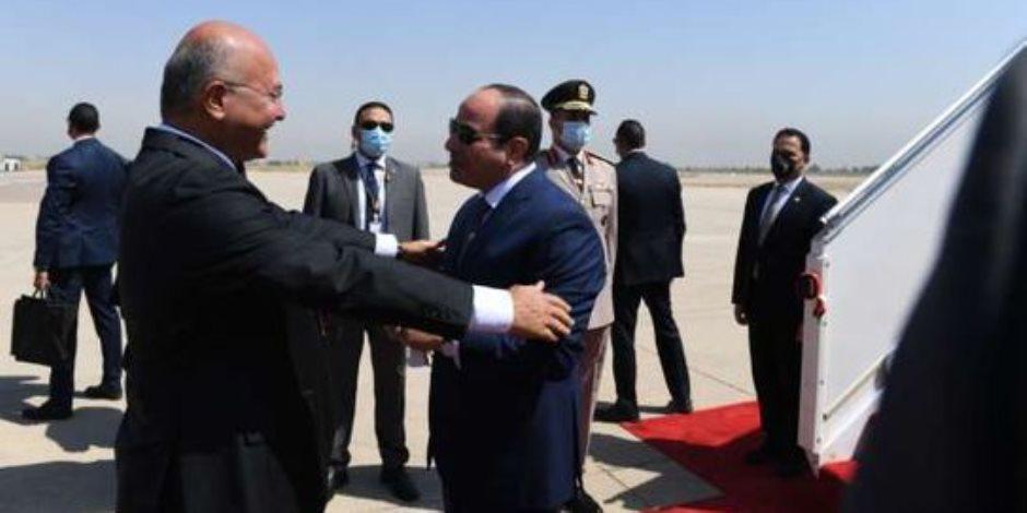 """""""القاهرة-بغداد"""".. تأكيد للاستراتيجية المصرية ببناء الأمن القومى العربى ليكون مصير العرب ومستقبلهم بأيديهم"""