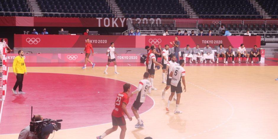 أولمبياد طوكيو 2020.. منتخب اليد يتعادل أمام البرتغال 15/ 15 في الشوط الأول