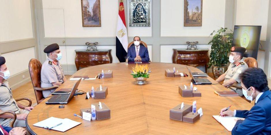 الرئيس السيسي يتابع مشروعات الهيئة الهندسية وفي مقدمتها العاصمة الإدارية