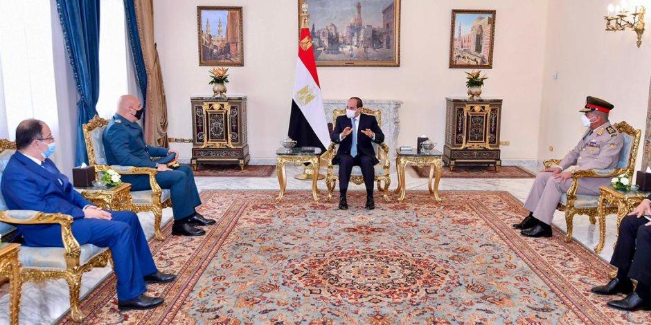 الرئيس السيسى يستقبل قائد الجيش اللبناني.. ويؤكد: الجيوش الوطنية عمود فقري ضامن لاستقرار الدول