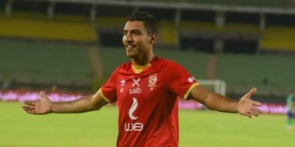 الأهلي يحرز الهدف الثاني في مرمى أسوان بقدم محمد شرف (فيديو)