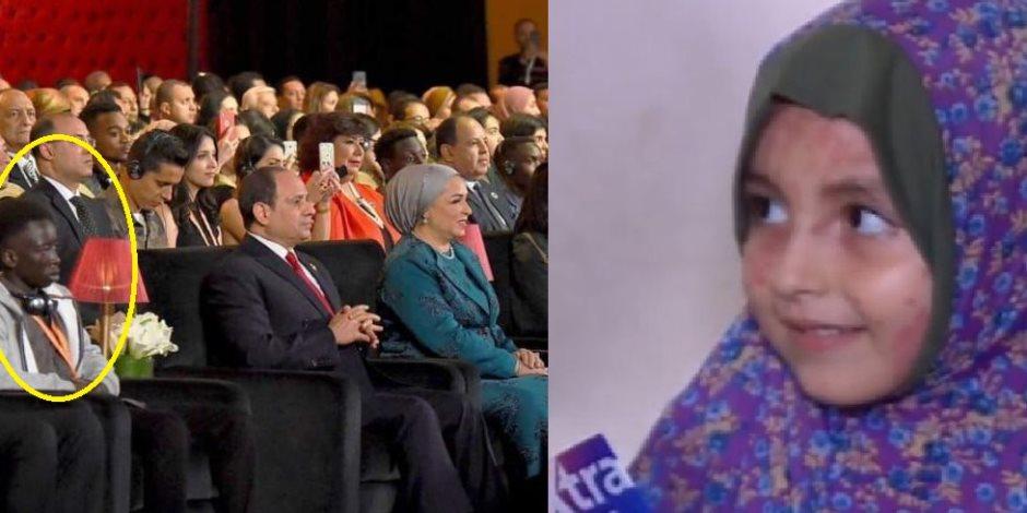 """""""إنسانية عابرة للحدود"""".. قصة طفلة فلسطينية أمر الرئيس السيسي بعلاجها"""