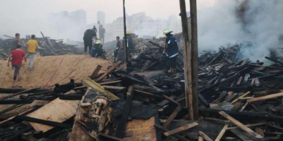 حريق عزبة خير الله..  اشتعلت 8 ساعات بسبب ارتفاع درجات حرارة الجو ومخاوف من تجددها